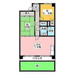 メゾンローゼ[2階]の間取り