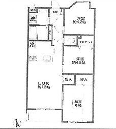 西新井マンション[2階]の間取り