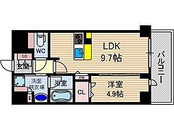 ぺスカード別院[4階]の間取り