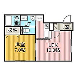 ハイネス文京台[2階]の間取り