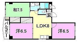 ビージョイマンション5号館[201号室]の間取り