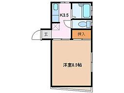 マンション姫之橋[2階]の間取り