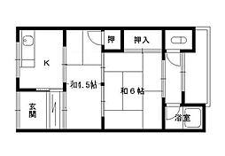 道井平家[1階]の間取り