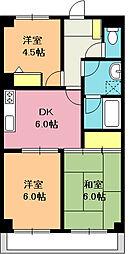 大塚第2ビル[302号室]の間取り