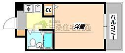 大阪府大阪市淀川区十三東1の賃貸マンションの間取り