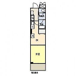 フォーレスト・センタービル[603号室号室]の間取り