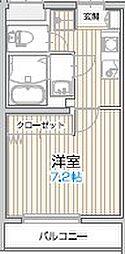 アルビレオ 5階1Kの間取り