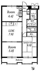 成瀬ロイヤルハイツ2[2階]の間取り