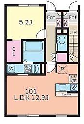 ラウレア構A棟[103号室]の間取り