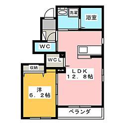 MAISON 花水木[1階]の間取り
