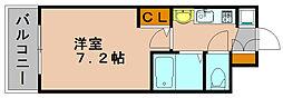 エステムコート博多祇園ツインタワーセカンドステージ[13階]の間取り