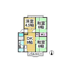サンシティ上松[2階]の間取り