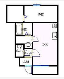 コンフォート青山[1階]の間取り