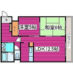 北海道札幌市東区北三十六条東6丁目の賃貸マンションの間取り