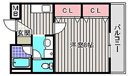 ジェンティールTATEISHI II[4階]の間取り