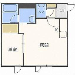 リベラルハイムN363[3階]の間取り