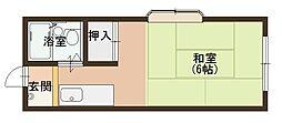 エステートピア889[2A号室]の間取り