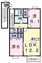 エバ−・グリ−ン[2階]の間取り