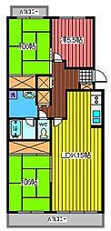 埼玉県さいたま市緑区原山2丁目の賃貸マンションの間取り