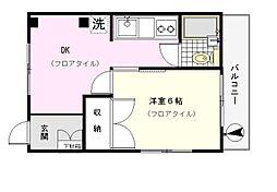 ウィスダム横浜[103号室]の間取り