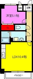 コーナーズ ビルディング[1階]の間取り