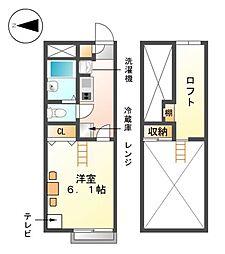 レオパレスグランロウム[2階]の間取り