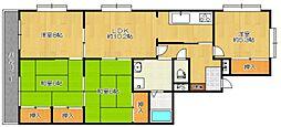 マンションアザレア[3階]の間取り