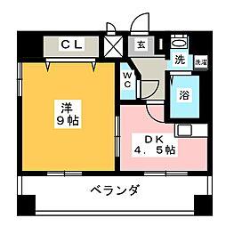 メゾン・ド・リスブラン[6階]の間取り
