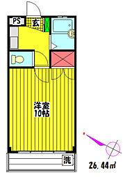 プレステージ関根III[203号室]の間取り