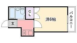 レオパレス武庫川第2[106号室]の間取り