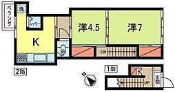 [一戸建] 東京都杉並区高円寺南1丁目 の賃貸【/】の間取り