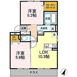 コトーA[2階]の間取り