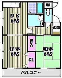 大阪府堺市北区北長尾町7丁の賃貸マンションの間取り