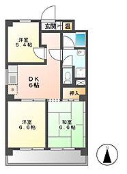 第42プロスパー[4階]の間取り