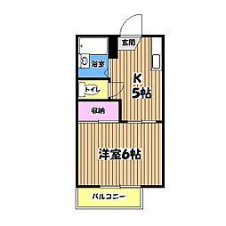 サンモールタカハシ[2階]の間取り