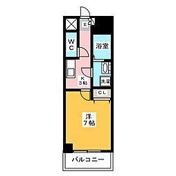 エステムプラザ博多駅南[2階]の間取り