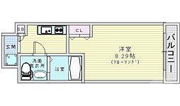 Osaka Metro谷町線 都島駅 徒歩6分の賃貸マンション 8階1Kの間取り