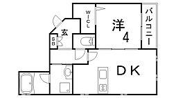 カステロディアリス[3階]の間取り