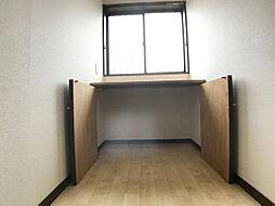 「廊下」つきあたりが収納になっています。