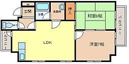 ファミール朝田 B棟[3階]の間取り
