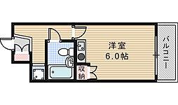 藤和シティスクエアあべの橋[3階]の間取り