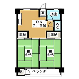 UR富吉第2[4階]の間取り