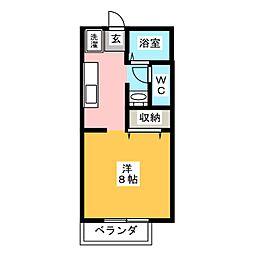 サンパークCERA B棟[1階]の間取り