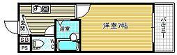 大阪府大阪市北区天神橋6の賃貸マンションの間取り