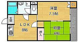 ファミールユキ[2階]の間取り