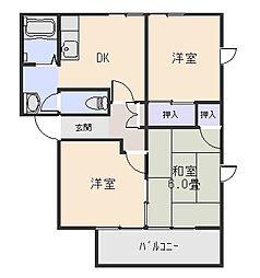 レジデンス21B[1階]の間取り