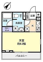 アバンティ津田沼[2階]の間取り