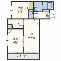 HGS MinamiAsabu 2nd[3階]の間取り