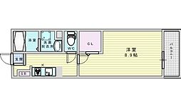 JR東海道・山陽本線 吹田駅 徒歩21分の賃貸マンション 3階1Kの間取り