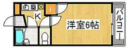 プレステージ堺市壱番館[3階]の間取り